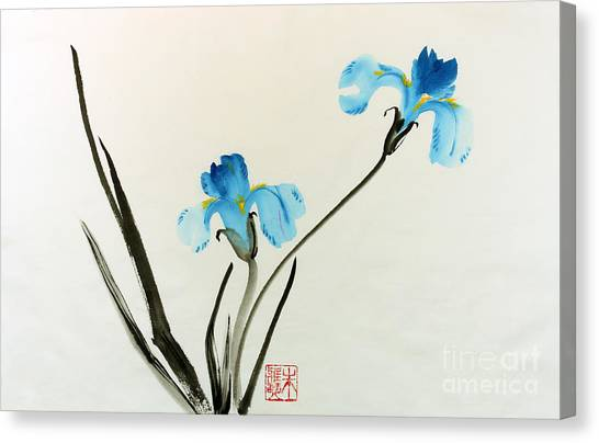 blue iris II Canvas Print