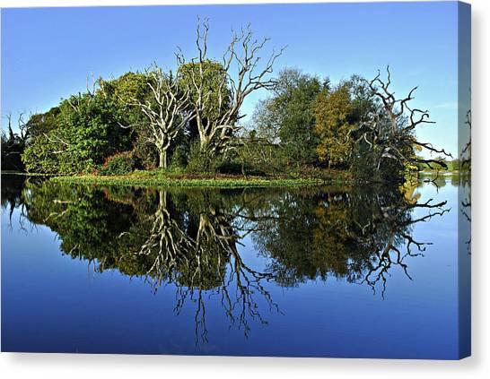 Blue Lake Reflections Canvas Print