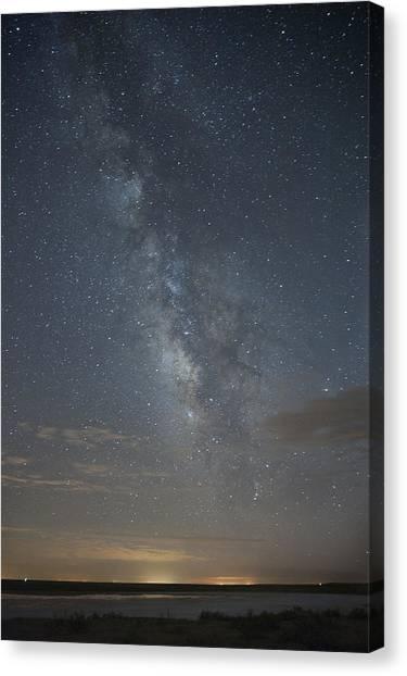 Blue Milky Way Canvas Print