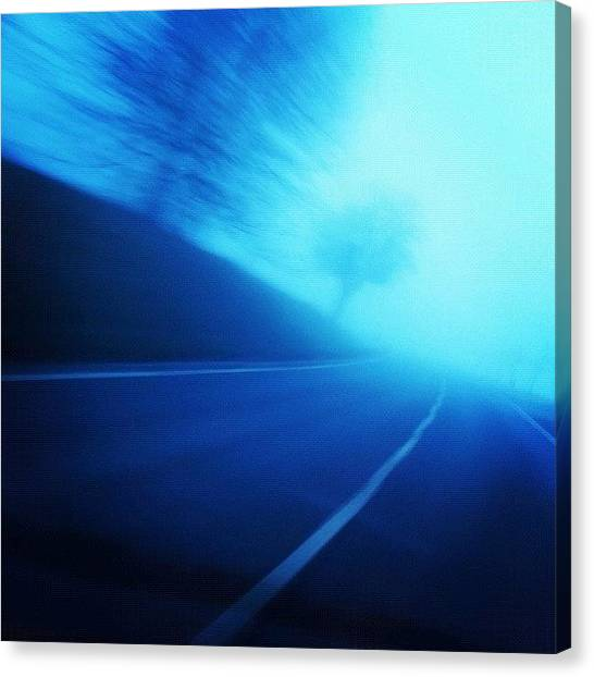 Trip Canvas Print - Blue Monday by Matthias Hauser