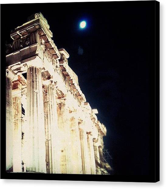 The Acropolis Canvas Print - #blue #moon #acropolis #greece by George sneyeper Vlachos