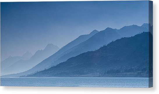 Mountain Ranges Canvas Print - Blue Mountain Ridges by Andrew Soundarajan