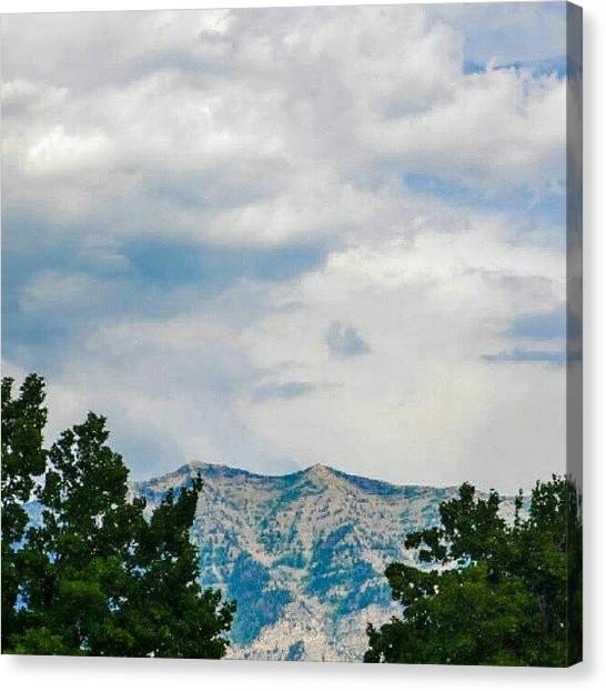 Utah Canvas Print - Blue Mountains, And Sky. This Is Why I by Becca Watters