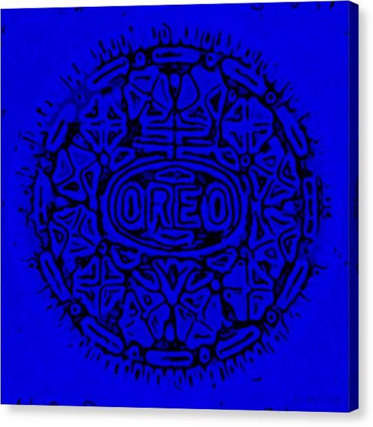 Nabisco Canvas Print - Blue Oreo by Rob Hans