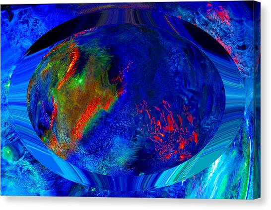 Blue Planet Canvas Print by Colleen Cannon