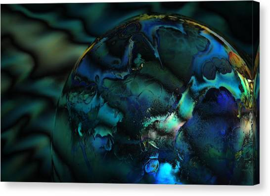 Blue Planet Canvas Print by Sandra Sigfusson
