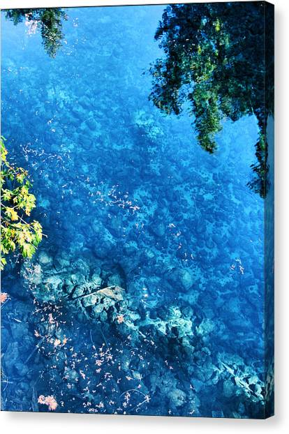Blue Pool I Mckenzie River Oregon Canvas Print