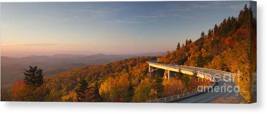 Blue Ridge Parkway Canvas Print - Blue Ridge Parkway Linn Cove Viaduct by Dustin K Ryan