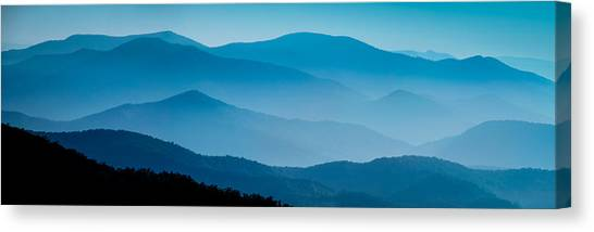 Blue Ridges Panoramic Canvas Print