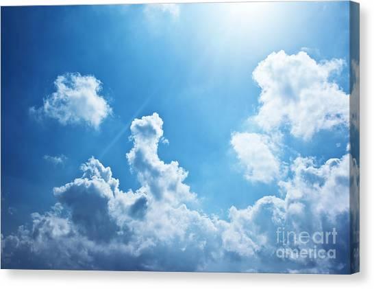 Blue Sky Background Canvas Print by Anna Om