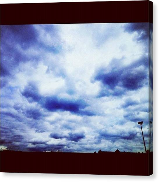 Heaven Canvas Print - Blue Sky by Isabel Poulin