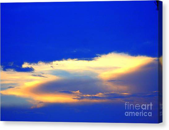 Blue Skys Canvas Print by Bret Worrell