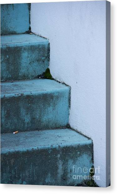 Blue Stairs Canvas Print