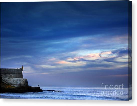 Blue Sky Canvas Print - Blue Storm by Carlos Caetano