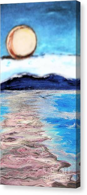 Blue Sunrise Rendered Canvas Print