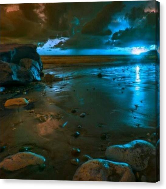 Nature_shooters Canvas Print - Blue Sunset #insta_pick_skyart #iskyhub by Yudha Ombok