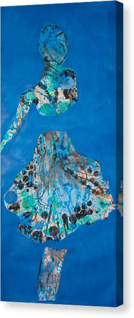 Blue Sway Canvas Print