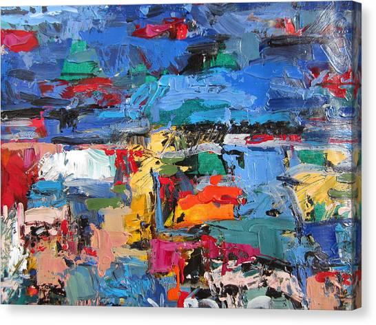 Blue Talamone Canvas Print