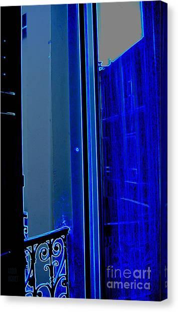 Blue Window In Paris Canvas Print