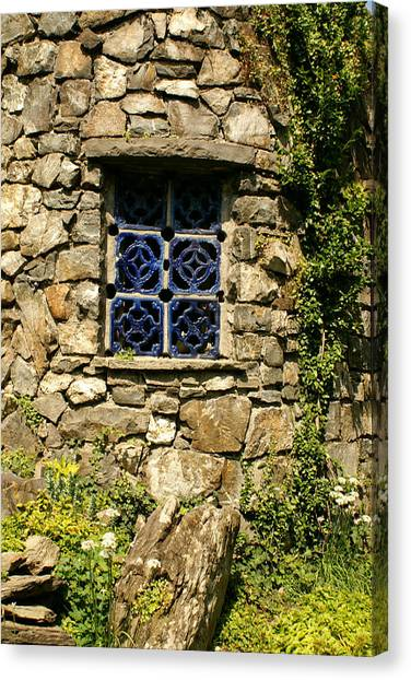 Blue Window Canvas Print by Margaret Steinmeyer