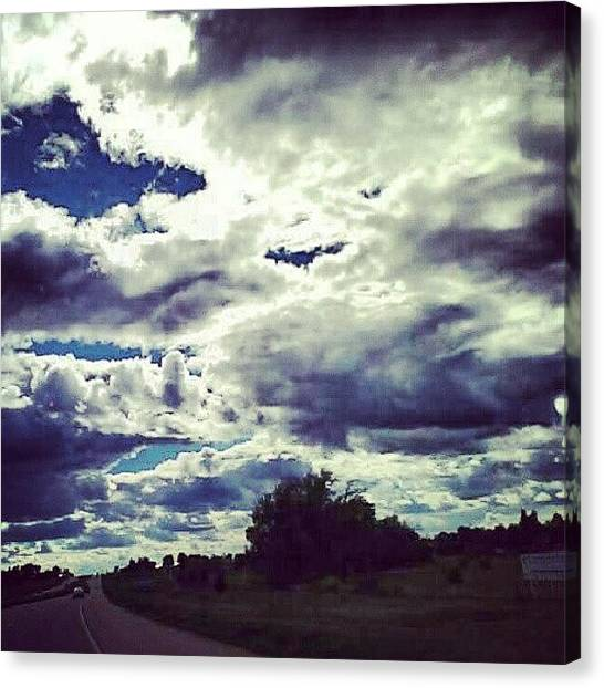 Outer Space Canvas Print - #blueandrainy #clouds #beautifulday by Alien Alice