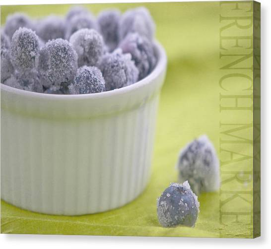 Blueberries Canvas Print - Blueberries by Juli Scalzi