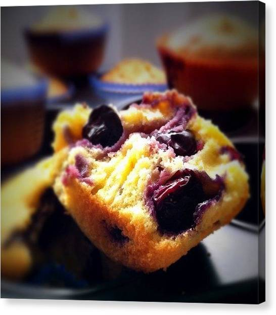 Berries Canvas Print - Blueberry Muffins Morning by Ale Romiti 🇮🇹📷👣
