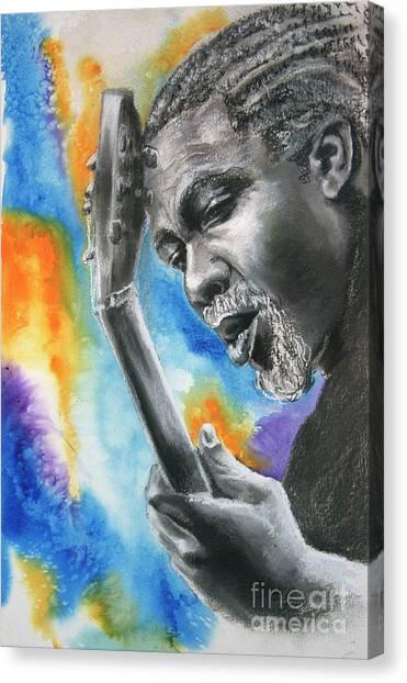 Blues Guitar 1 Canvas Print