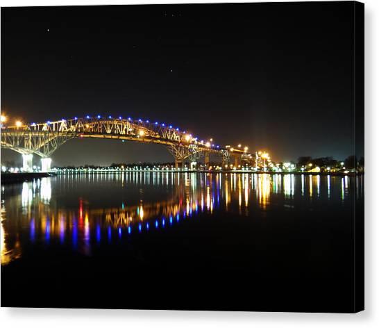 Bluewater Bridges On A Warm Spring Night Canvas Print
