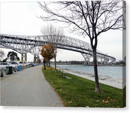 Bluewater Bridges Sarnia Port Huron Canvas Print