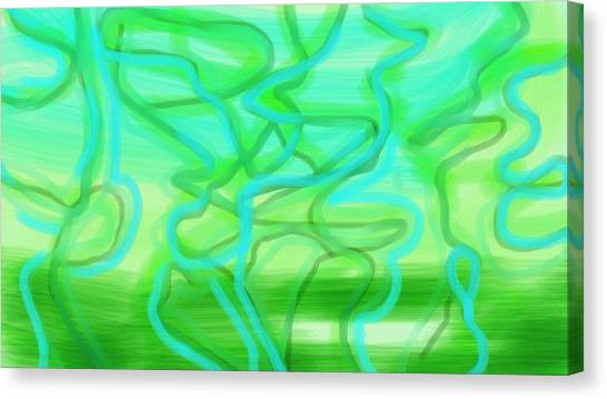 Bluzul Vergreen II Canvas Print by Rosana Ortiz
