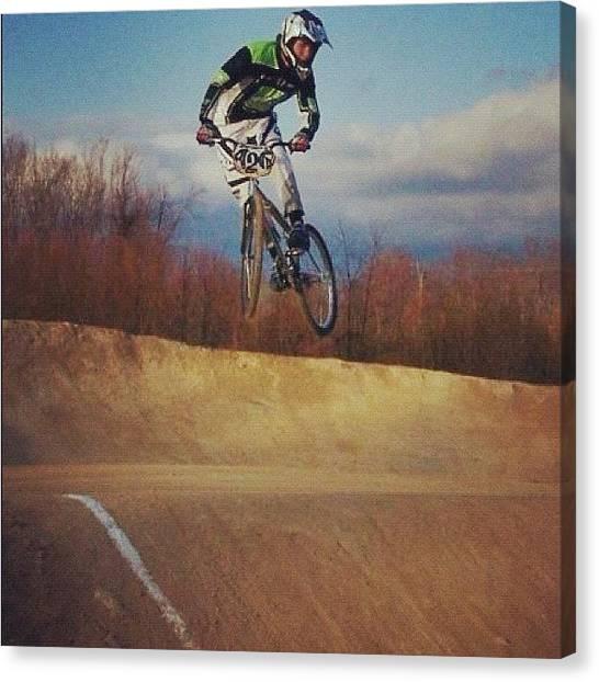 Track Canvas Print - Bmx Jump by Lori Lynn Gager