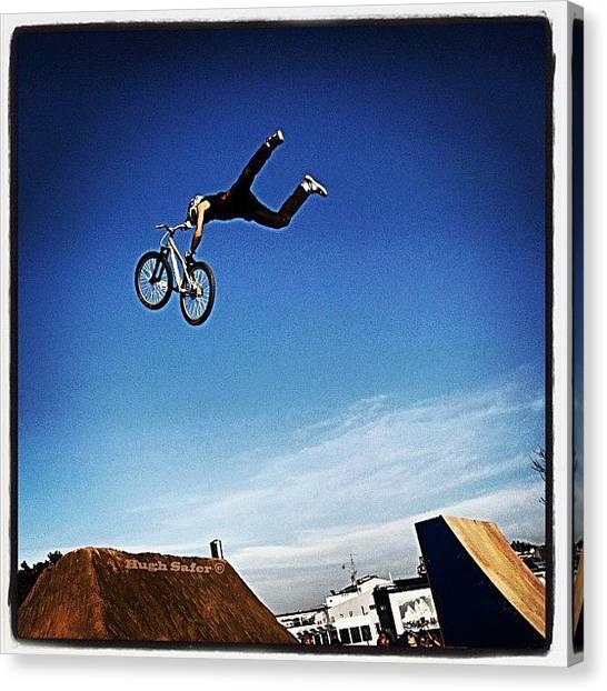 Extreme Sport Canvas Print - Bmx O Marisquiño 2011 #bmx #boy #jump by Hugo Sa Ferreira