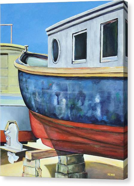 Boat Hull Canvas Print by Robert Henne