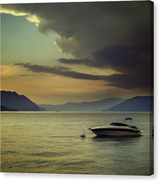 Vintage Polaroid Canvas Print - Boat by Joana Kruse