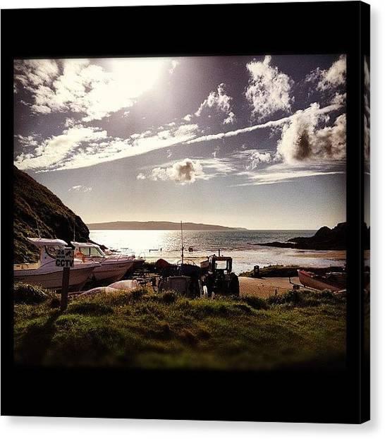 Tractors Canvas Print - #boat #landscape #seaside #seaview by Rachel Purchase
