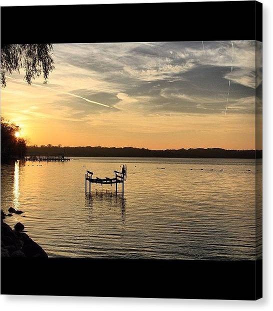 Wisconsin Canvas Print - Boat Lift. #beautiful #scenery by Aran Ackley