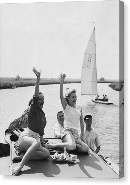 Boat Party Canvas Print by John Drysdale