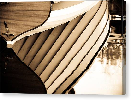 Boat Reflection Canvas Print by Camille Lyver