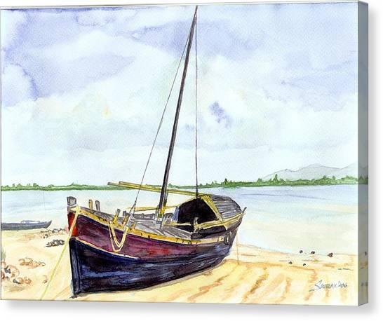 Boat Canvas Print by Saurav Das