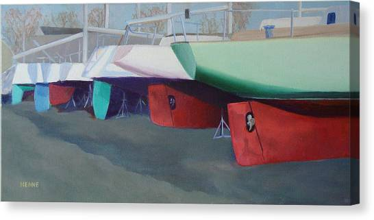 Boat Yard Island Heights Canvas Print