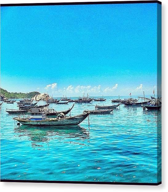 Vietnamese Canvas Print - Boats. Calm. Cham Island by Evgeny Poliganov