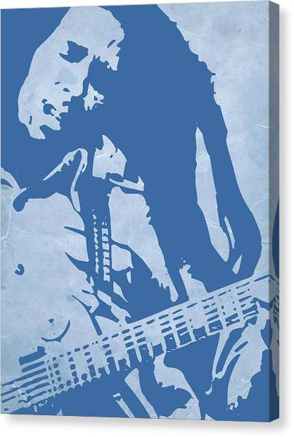 Jamaican Canvas Print - Bob Marley Blue by Naxart Studio