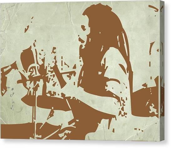 Jamaican Canvas Print - Bob Marley Brown 1 by Naxart Studio