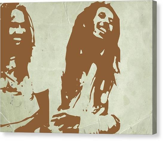 Jamaican Canvas Print - Bob Marley Brown 2 by Naxart Studio