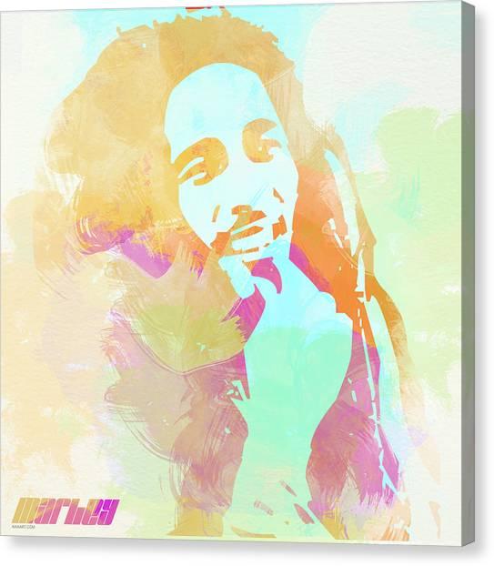 Crying Canvas Print - Bob Marley by Naxart Studio