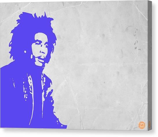 Jamaican Canvas Print - Bob Marley Purple 3 by Naxart Studio