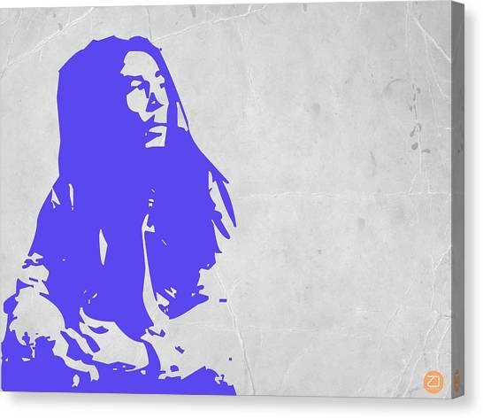 Jamaican Canvas Print - Bob Marley Purple by Naxart Studio