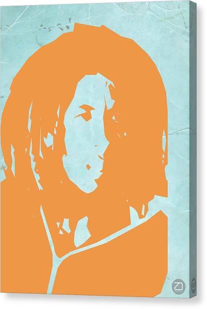 Jamaican Canvas Print - Bob Marley Yellow 2 by Naxart Studio