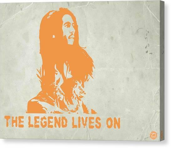 See Canvas Print - Bob Marley Yellow 4 by Naxart Studio